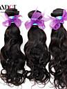 """3st lot 12-28 """"peruanska obearbetade vatten wave wavy jungfru hårwefts naturligt svart rå remy människohår väva buntar"""