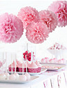 It\'s Girl Pom Poms - 5pcs Mix 2 Size Tissue Paper Flowers(10inch*3pcs pearl pink & 12inch*2pcs Pink)