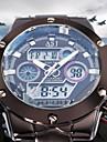 ASJ Bărbați Ceas Sport Ceas La Modă Ceas de Mână Japoneză Quartz LCD Calendar Cronograf Rezistent la Apă Zone Duale de Timp alarmăOțel