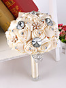 Luxury Rhinestone Ribbon Rose Flower Bride Bridal Wedding Bouquets Accessaries Party Decor for Wedding