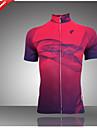 Getmoving® Cykeltröja Dam Kort ärm Cykel Andningsfunktion / Fuktgenomtränglighet / Back Pocket / SvettavvisandeAnpassad / POLO Shirt /