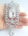 accesorii de nunta de argint-ton cristal stras brosa mireasa deco nunta buchet de mireasa bijuterii nunta