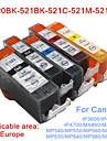 bloom®520bk + 521bk-521C / m / y kompatibel bläckpatron för Canon iP3600 / iP4600 / iP4700 / MX860 / MX870 hela bläck (5 färger 1 set)