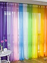 200*100cm Window Balcony Sheers Curtain Panel Voile Curtains
