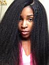 """8 """"-26"""" peruanska jungfru hår kinky rakt limfria spets front peruk färg naturligt svart baby hår för svarta kvinnor"""