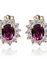 Cercei cu Clip Cristal Cristal Zirconiu Cubic imitație de diamant Aliaj Flower Shape Floarea Soarelui Bijuterii PentruNuntă Petrecere
