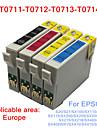 bloom®t0711-T0714 cartouche d\'encre compatible pour epson s20 / s21 / SX100 / SX110 / SX105 / SX115 / SX200 / x210 pleine encre (4