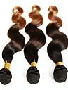 """3st mycket 12 """"-26"""" indianombre två ton färg T1B / 4/27 vågigt hår buntar"""