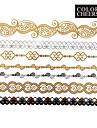 Tatueringsklistermärken - Mönster - Smyckeserier - till Dam/Girl/Vuxen/Tonåring - Guld - Papper - #(1) - styck #(23x15.5)