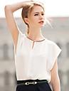T-Shirts ( Mousseline ) Informel Rond a Manches courtes pour Femme
