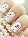 Autocollants 3D pour ongles - Doigt - en Bande dessinee/Adorable - 9.8*6.2*0.1