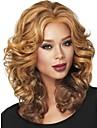 nya kvinnor trevlig lång auburn med höjdpunkter wavy fullt syntetisk peruk fri frakt