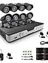 Zmodo 8 CH Key DVR 4 Outdoor 600TVL Day Night CCTV Home Security Camera System