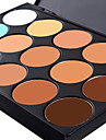 15 Colors 3in1 Professional Camouflage Natural Facial Concealer/Foundation/Bronzer Palette(2 Color Choose)