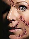 terreur de halloween aiguille de suture effrayant autocollants de tatouage enroulees tatouages temporaires (1 pc)