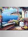 Peint a la main A fleurs/Botanique / Paysages AbstraitsPastoral / Style europeen Un Panneau Toile Peinture a l\'huile Hang-peint For