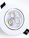 3W Infälld glödlampa Infälld retropassform Högeffekts-LED 250-300 lm Varmvit / Kallvit Dimbar AC 220-240 V 1 st