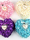 Heart Shape Bears Lover Pearl Ring Box Pillow for Wedding