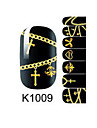 Autocollants 3D pour ongles - Doigt - en Bande dessinee - 14.5*7.5*0.1