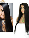 "8""-26"" Brazilian Virgin Hair Straight Glueless Full Lace Wig With Baby Hair for Black Women"