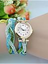 pentru Doamne Ceas La Modă Ceas de Mână Ceas Brățară Quartz imitație de diamant Aliaj Bandă Perle Albastru Verde Alb Negru Maro Albastru