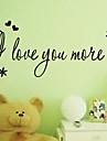 Jag älskar dig mer lovingwall dekal zooyoo8178 dekorativa adesivo de Parede avtagbar vinyl väggdekorationer