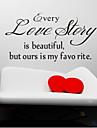 varje kärlekshistoria är vackra väggdekaler zooyoo8145 vardagsrum löstagbar vinyl väggdekorationer heminredning