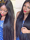 """8""""-26"""" Indian Virgin Hair Straight Glueless Lace Wig Lace Front Wig With Baby Hair for Black Women"""