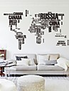 Mots & Citations Abstrait Stickers muraux Stickers avion Stickers muraux decoratifs Materiel Amovible Decoration d\'interieur Calque Mural