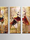 Peint a la main PaysageModern Trois Panneaux Toile Peinture a l\'huile Hang-peint For Decoration d\'interieur