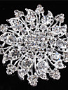 Women\'s Alloy Brooches & Pins With Rhinestones/Crystal/ Diamond For Bridal Flower