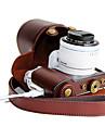 dengpin® PU läder avtagbara kameraväska väska täck med axelrem för samsung nx3300 NX3000 (blandade färger)