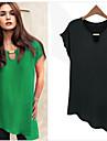 Kort ärm KVINNOR T-Shirts ( Chiffong Casual stil
