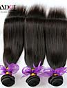 """3 st lot 8 """"-30"""" peruanska obearbetade råvaror rakt jungfru hårwefts naturliga svart remy människohår väva buntar tjocka"""