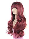 Europa och Förenta staterna den nya ms vinröd lutande bang lockigt hår peruk