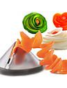 Gadgets de cuisine creative spirale vegetale trancheuse / carotte coupe spiralizer vegetale (couleur aleatoire)