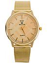 L.WEST Men's Steel Belt Quartz Watch Wrist Watch Cool Watch Unique Watch