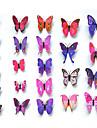 24pcs 3d mur simulation de papillon autocollants art decalcomanies