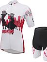 Maillot et Cuissard de Cyclisme Femme Manches courtes Velo Cuissard  / Short MaillotVestimentaire Respirable La peau 3 densites Poche