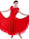 Vestidos(Negro / Rojo,Tul / Fibra de Leche,Danza Moderna / Desempeno) -Danza Moderna / Desempeno- paraMujer ArrugasRepresentacion /