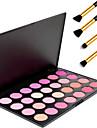 28 couleurs de maquillage professionnel de beaute blush cosmetique blush poudre palette + 4pcs crayon pinceau de maquillage