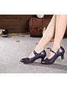 Chaussures de danse (Gris/Multicolore/Autre) - Non personnalisable - Talon Large - Paillette/Synthetic - Moderne