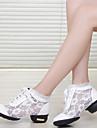 Zapatos de baile (Negro/Blanco) - Dance Sneakers - No Personalizable - Tacon bajo