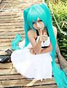 långa raka peruker 120cm ljusblå anime cosplay peruker Hatsune Miku