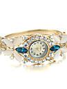 pentru Doamne Ceas La Modă Ceas Brățară Quartz imitație de diamant Aliaj Bandă Brățară rigidă Elegant Auriu Alb Albastru Curcubeu