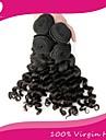 """3st / lot brasilianska jungfru hår 100% brasilianska remy hår vinkar djupt 8 """"-30"""" mänskliga hårförlängningar naturliga färg"""