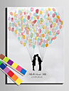 E-HOME® Personalized Fingerprint Painting Canvas Prints - A Lover of Kisses (Includes 12 Ink Colors)