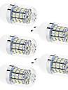 4W G9 Ampoules Mais LED T 60 SMD 2835 350 lm Blanc Chaud / Blanc Naturel Decorative AC 100-240 / AC 110-130 V 5 pieces