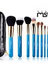 msq® 10pcs laine bleue pinceau de maquillage ensemble