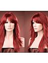 nyanlända långa röda syntetiskt hår alice vände hår peruk fri frakt